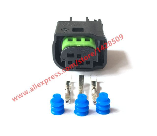 5 Sets 3 Pin Connector Female Male Waterproof Wire Harness Connector For Benz BMW 1-967642-1