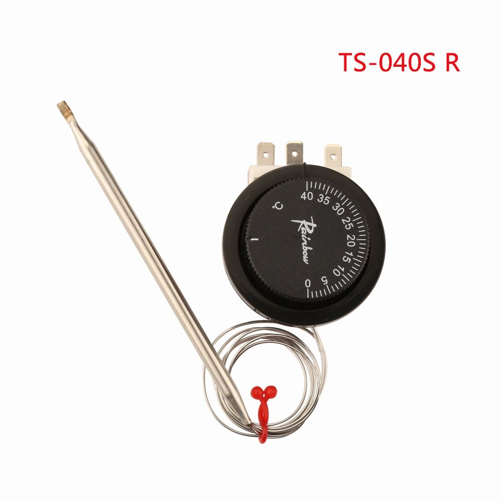 TS-040SR Korea Rainbow Capillary Thermostat with 0~40 Degrees Celsius 3 Pins One-phase Adjustable  Temperature Controller