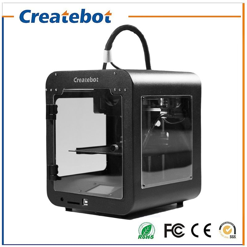 Build size 85*80*94mm High Quality Precision Createbot Super Mini 3d Printer kit with PLA Filament 1GB SD card for free