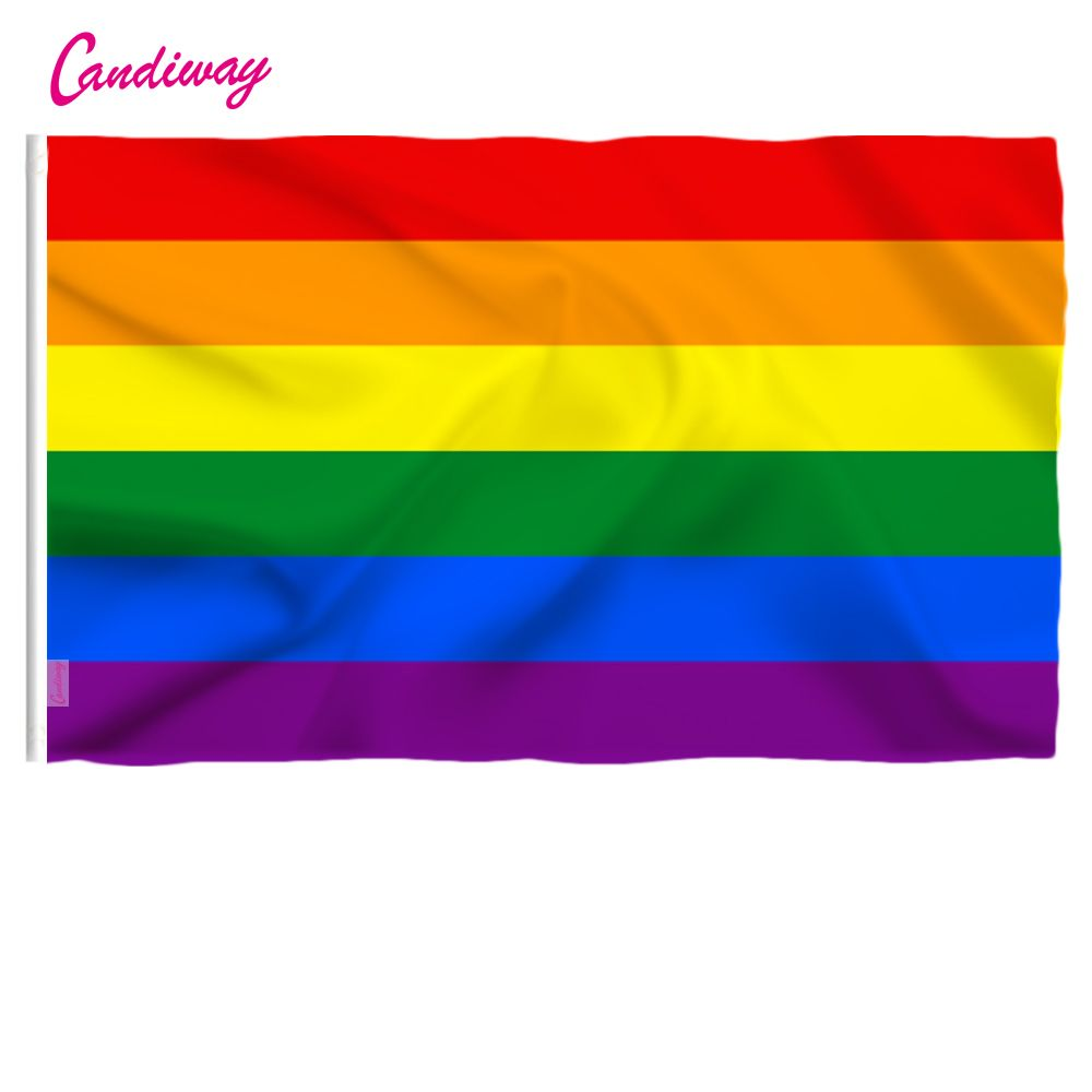 Lgbt New 90cm x 60cm Rainbow Flag 3*2 FT Polyester standard Flag Gay Pride Peace Flags Outdoor Indoor
