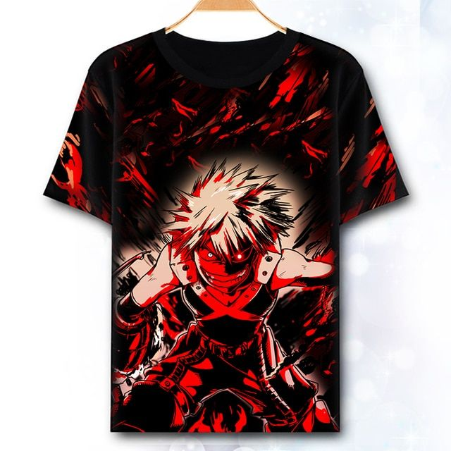 New My Hero Academia Cosplay T-shirt Japan Anime Boku no Hero Academia t-shirt terylene short sleeve Summer Tops Tees