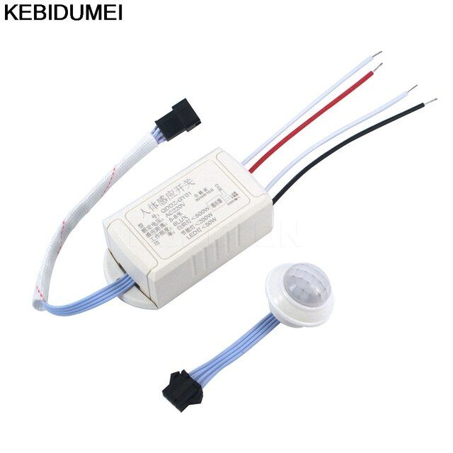 1pcs 220V IR Infrared Module Body Sensor Intelligent Light Motion Sensing Switch Sensing Switch