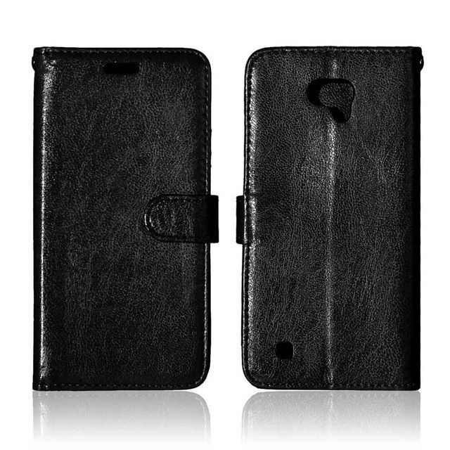 DEEVOLPO Flip Cover For LG X-Cam 5.2'' Wallet Case For LG X Cam K580 K580DS Solid Color Smooth Leather Phone Fundas Coque DP82