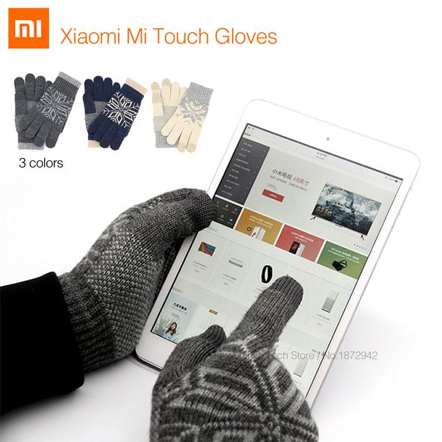 Original Xiaomi Finger Screen Touch Gloves Xiaomi Accessory Winter Warm Wool Gloves For Touch Screen Phone Tablet Cash Machine