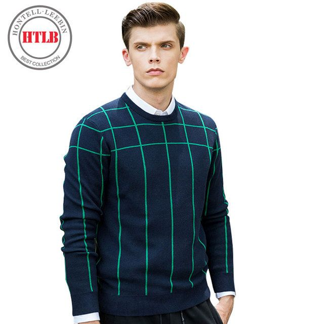 HTLB 2017 New Spring sweater men brand clothing fashion men pullover top quality striped knitted sweater male P037