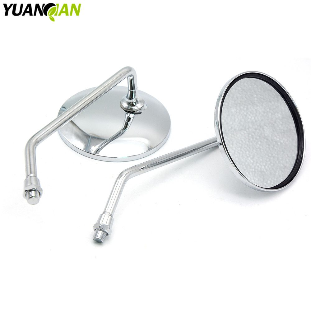 Universal Folding Motorcycle rearview Side mirror 8mm 10mm Motorcycle Accessories kit for yamaha ybr 125 XJ650  tmax 500