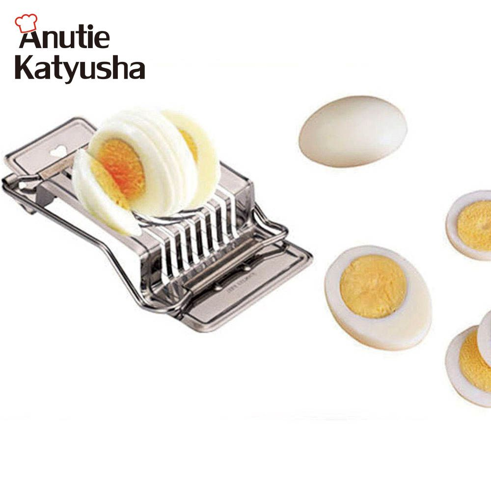 1PC Eggs Slicers Cutter Stainless Steel Eggs Slicers Multifunction Kitchen Eggs Slicers Sectione Cutter Mold Edges Kitchen Tool