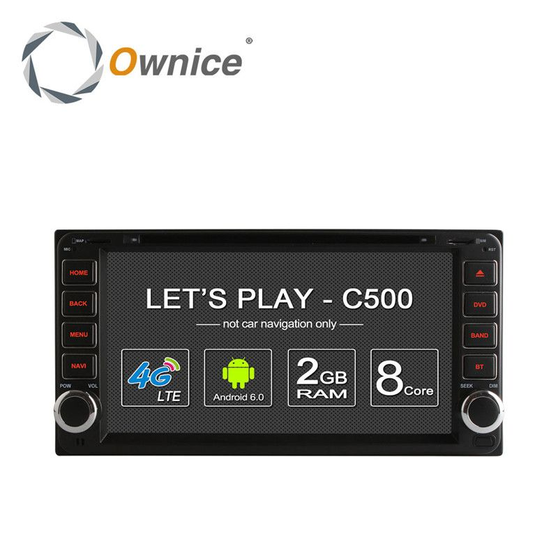 Octa Core 2G RAM Android 6.0 4G Car DVD GPS Stereo Radio Player For Toyota Kluger Allion Celica Yaris 2009 Alphard Land Cruiser