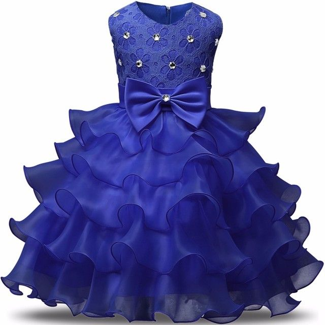 Aini Babe Girls Ceremonies Party Dress For Wedding Children's Girl Clothing Kids Dresses for Girls Tulle Kids Prom Gown Designs