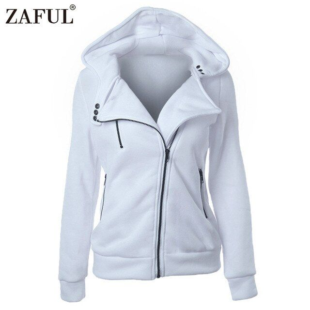 ZAFUL 2017 New Spring Autumn Women hoodies sweatshirts zipper V Neck Long Sleeve Warm Female Hoodies jacket Sudaderas Mujer