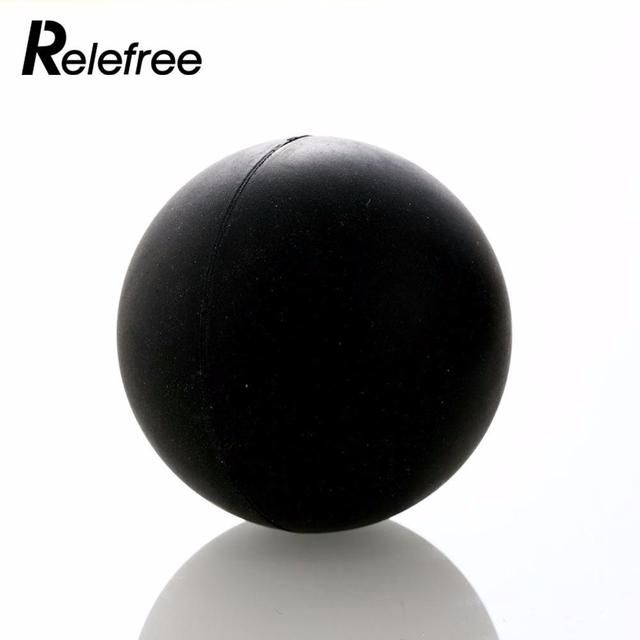 Relefree Fitness Gym Training Massage Ball Lacrosse Ball 6.2m Trigger Point Body Yoga Black Sport Exercise Rubber Popular