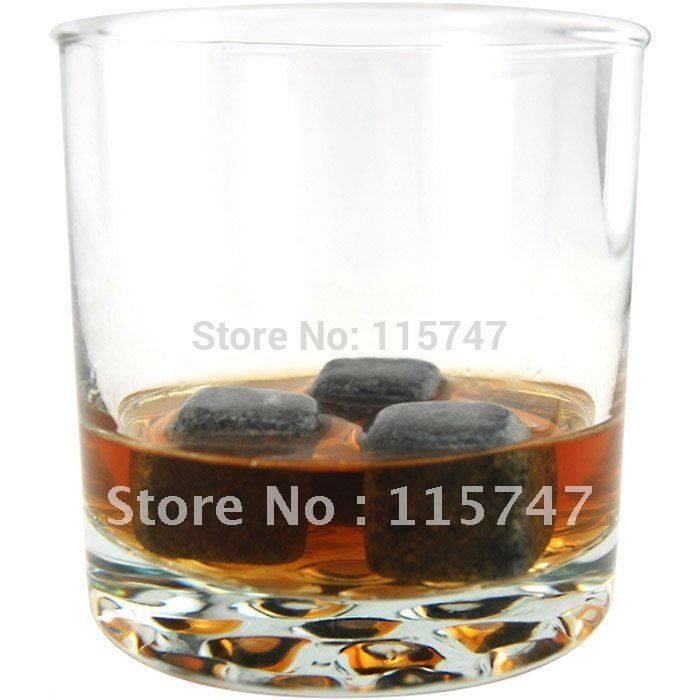 Whisky stones 6pcs/set +velvet bag, 150sets/lot, cooling wine stone, ice cube stone, Christmas gift