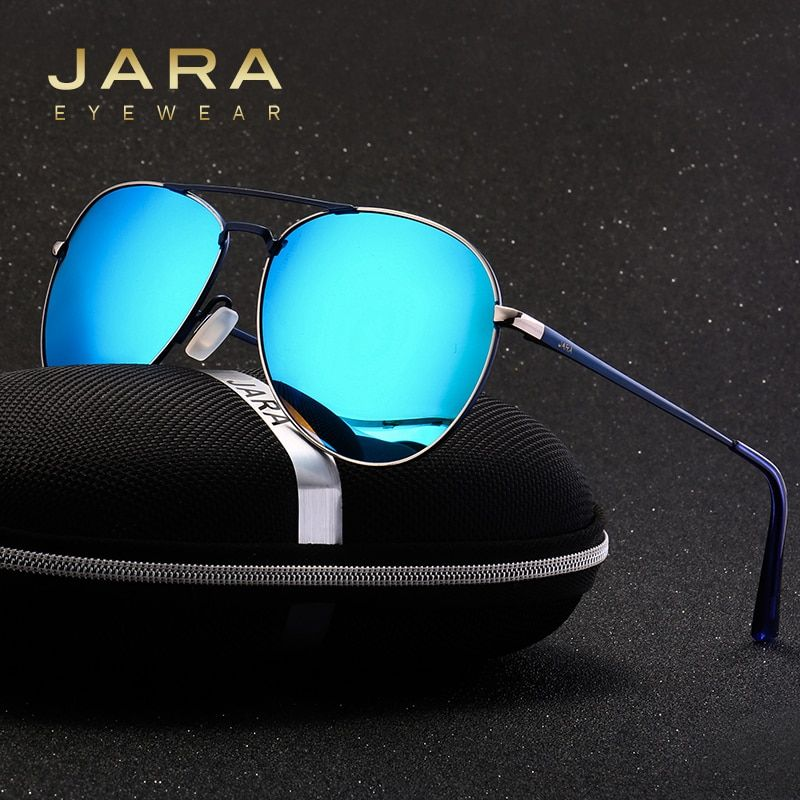 JARA Women Fashion Color Polarized Lens Sunglasses Men Mirror UV400 Coating Seabeach Style Eyewear Accessories Sun Glasses A310