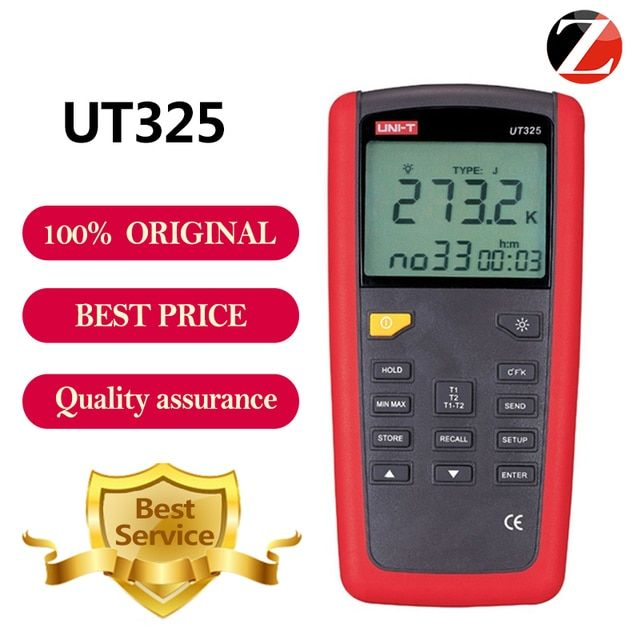 Lowest Price UNI-T UT325 Auto Calibration Digital Thermometer High/Lower Signal Output Temperature Meter Tester USB Interface