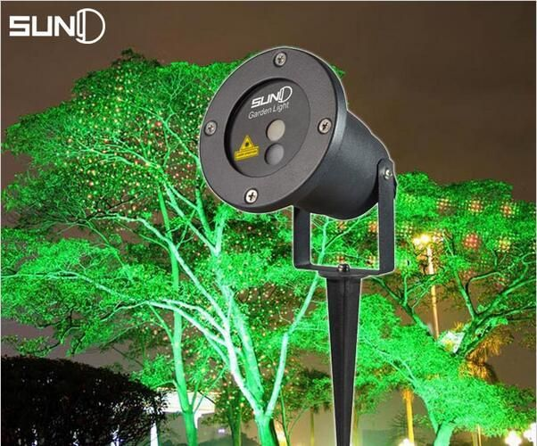 2016 newest Waterproof Moving Snow Laser Projector Lamps Snowflake LED Stage Light For Christmas Party Light Garden Lamp Outdoor