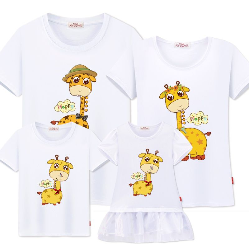 matching family clothes look Mother daughter Dresses family t-shirts father son mom  fashion summer casual cotton Couple outfits