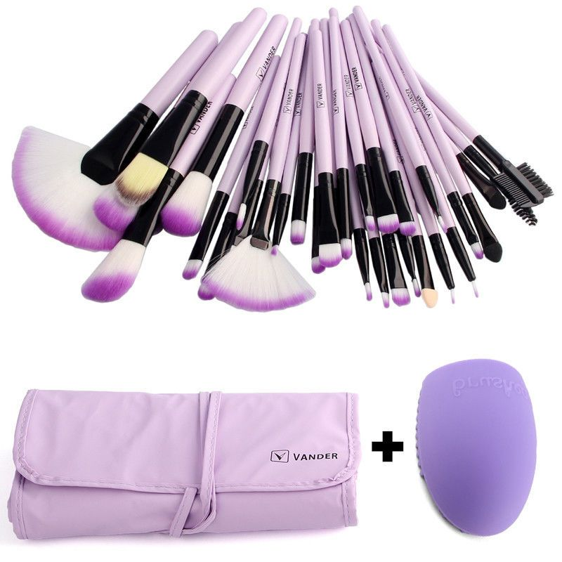 Pro VANDER 32 Pcs Makeup Brushes Bag Set Foundation Powder Pinceaux Maquillage Cosmetics Brush Tools + Cleaning Egg Brushegg