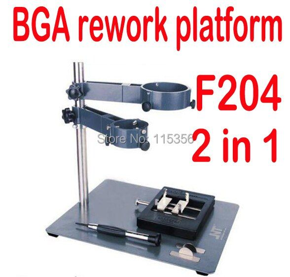 free shipping cell Phone Laptop BGA Rework Reballing Station Hot Air Gun Clamp Jig NT F204 bga stencils Fixtures