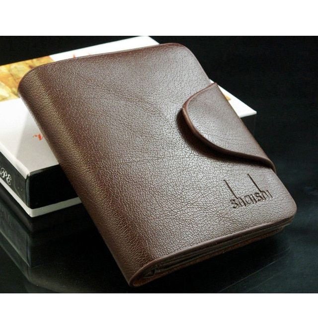 Business Men Wallets Male Small Split Leather Luxury Walet Mini Credit Card Wallet for Men Clutch Purse portefeuille hommes 2017