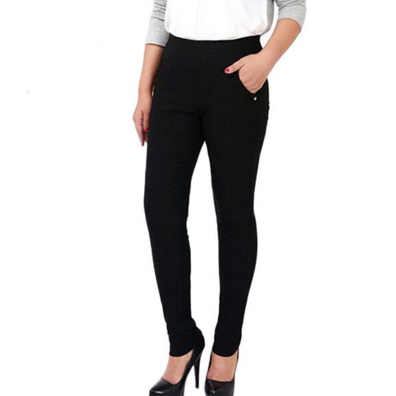 Hot sale 2016 women pants of the large size women stretch pants Fashion leggings capris feet plus size XXL-6XL fat MM trousers