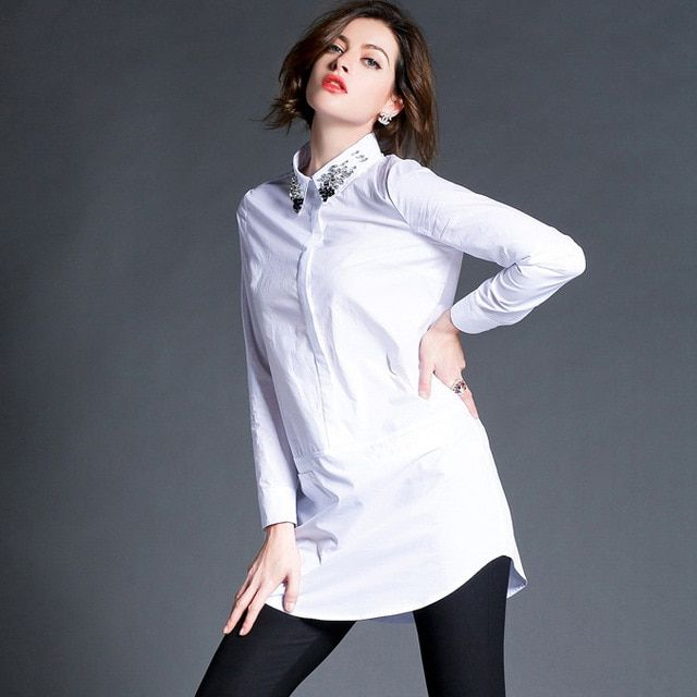 High Quality Spring Nail Drill Ladies Chemise Femme 3 Colors Camisa Feminina Concise Anti-abrasion Fashion Women Shirt Clothes