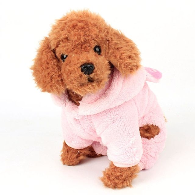 Dog Hoodies puppy clothes north facce jacket Autumn  Winter Coral Plush band hat Four legs garment Pet Products Accessories