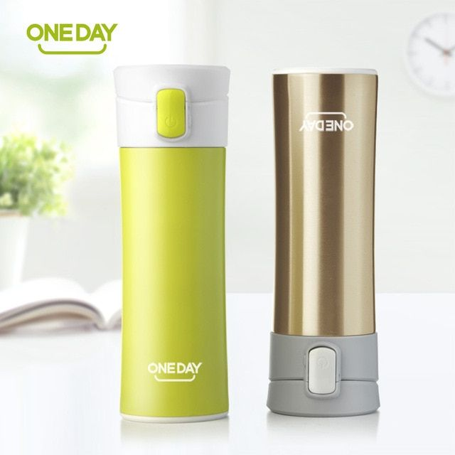 2018 New fashion Brand ONEDAY creative design thermal mug heat water cup themos super insulated vacuum flasks suit for tea milk