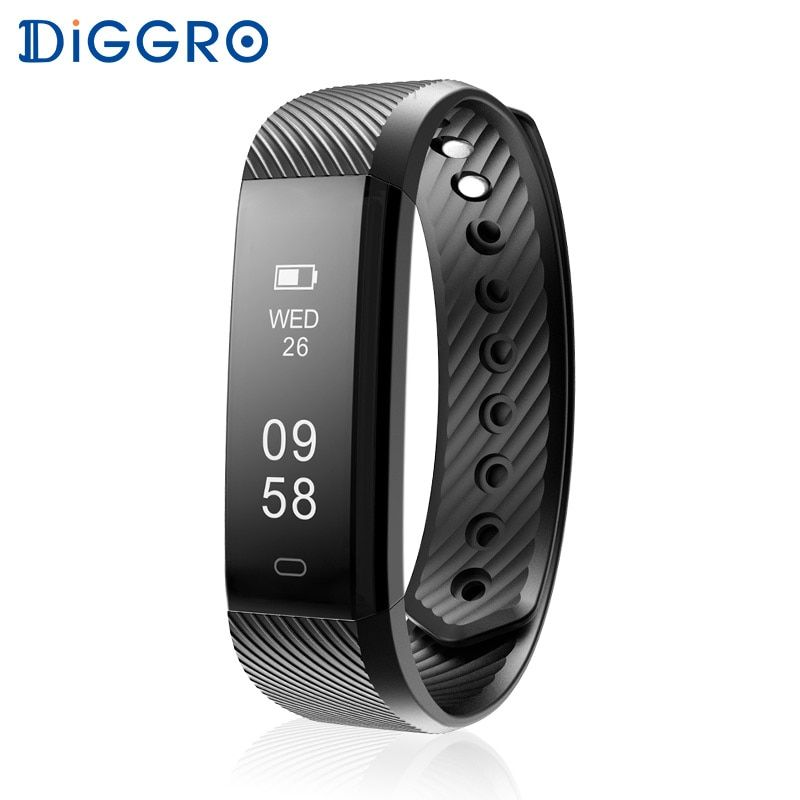 Diggro ID115HR Wristband Heart Rate Monitor Smart Bracelet Band FitnessTracker Waterproof Bluetooth for Android IOS VS Fitbits