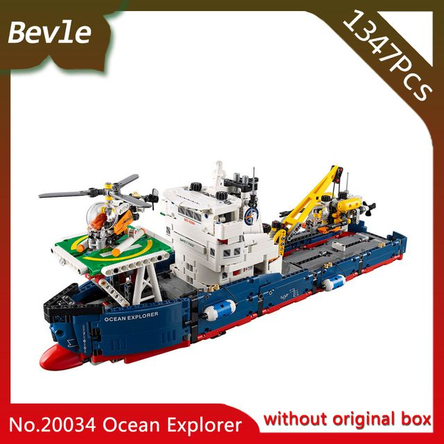 Doinbby Store  20034 1347Pcs Technic Series Air helicopter rescue search ship Building set Blocks Bricks For Children Toys