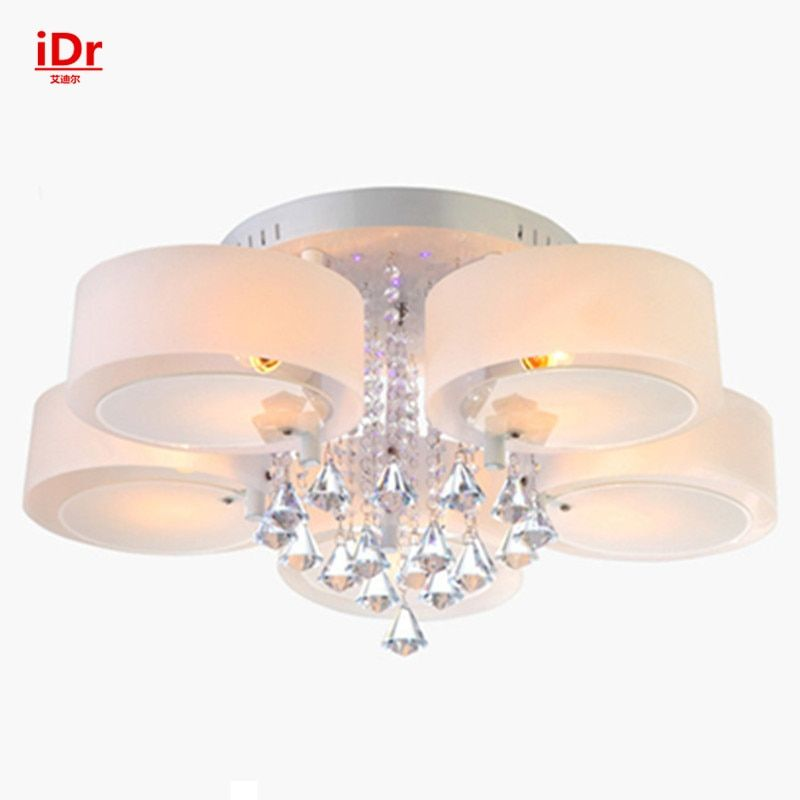 New Crystal Lamps modern minimalist living room lights led ceiling lights round the bedroom Upscale atmosphere  Dia750xH300mm