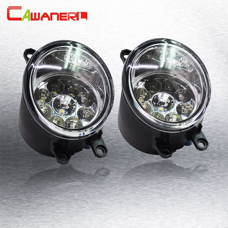 Cawanerl 1 Pair H8 H11 Car Daytime Running Light Fog Light DRL LED Light White Blue Orange For Toyota Yaris Vitz Hatchabck 2005-