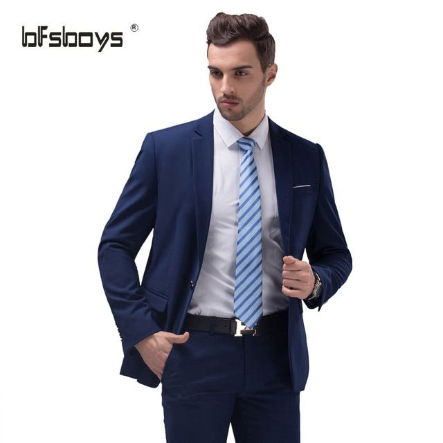 (Jackets+Pants)2016 New Arrival Men Suit Spring Slim Groom Wedding Suits For Men Tuxedo One Button Blazer Jacket Terno Masculino