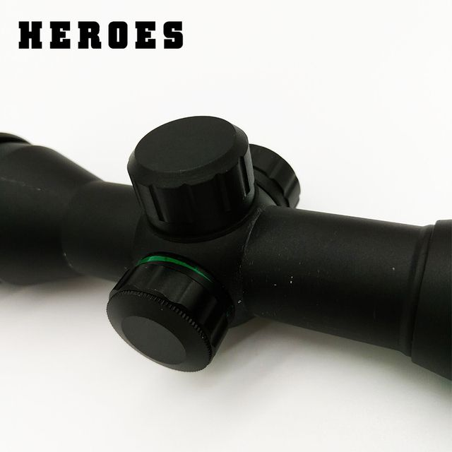 Heroes 6X32 Red Green Illumination Hunting Riflescope Mil-dot Optical Sight with sunshade Rifle Scope