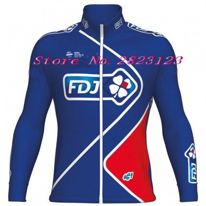 SUMMER SPRING 2017 FDJ TEAM BLUE 2 DESIGN ONLY LONG SLEEVE ROPA CICLISMO CYCLING JERSEY CYCLING WEAR SIZE XS-4XL
