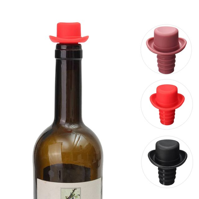 Silicone Small Hat Fresh Beer Bottle Stopper Wine Stopper Cork Bottle Caps Closures