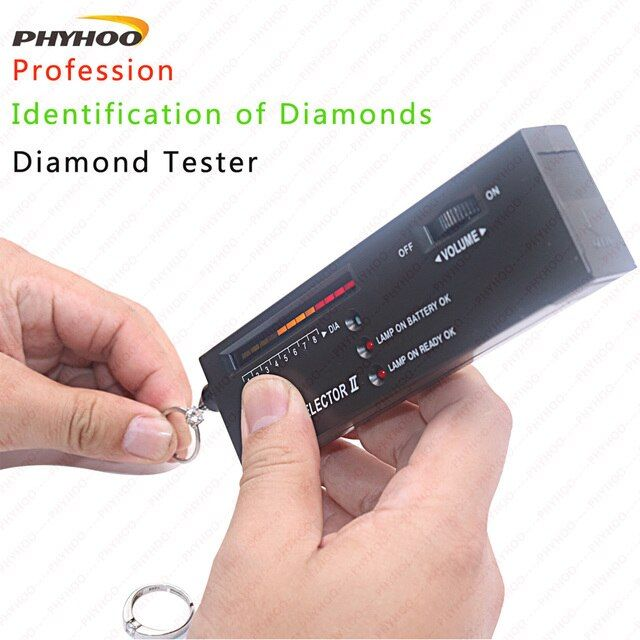 Electronic Portable Diamond Tester Diamond Selector II Moissanite Gemstone LED Indicator Jewelry Tester Tool