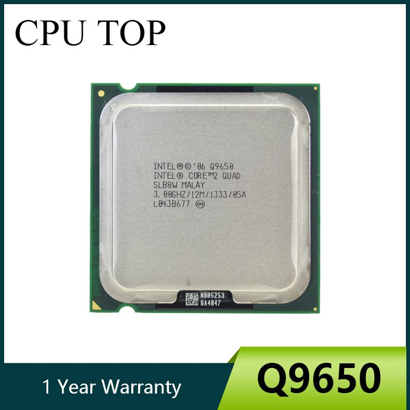 100% Working For Intel Core 2 Quad Q9650 SLB8W 3.0GHz 12MB 1333MHz Socket 775 Processor cpu