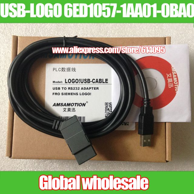 1pcs USB-LOGO 6ED1057-1AA01-0BA0 programming cable for Siemens / LOGO! USB-CABLE download USB ISOLATED CABLE FOR SIEMENS LOGO