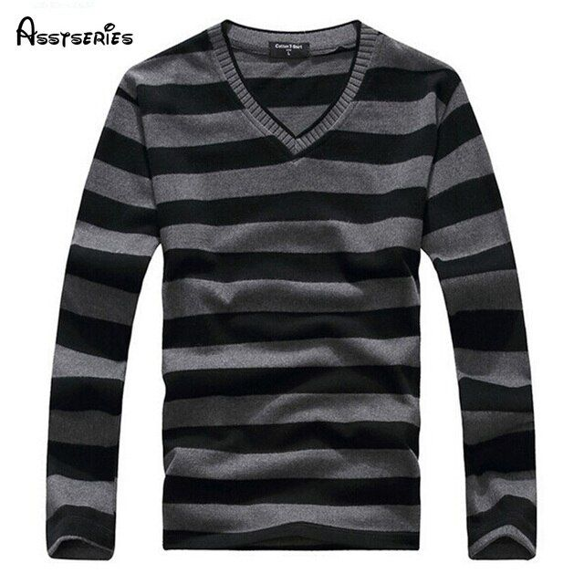 2018 Man Fashion Designer Brand Clothes Mens Jumper V Neck Male Sweaters Polo Pullover L-4XL Size 25