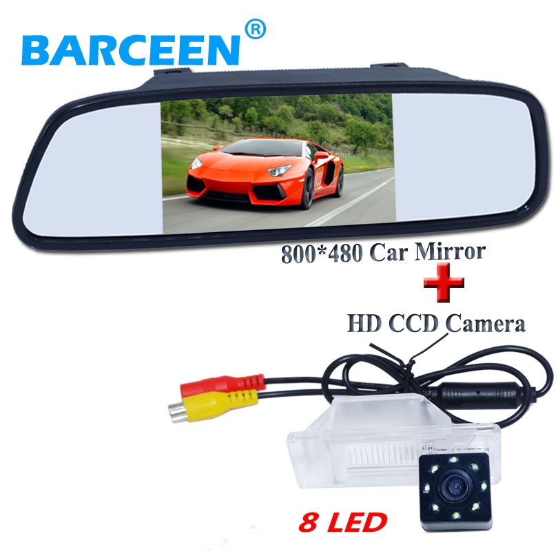 "On promotion car  mirror5""+original 8 led lights car parking camera for NISSAN QASHQA/ X-TRAIL for Peugeot 307 Hatchback"