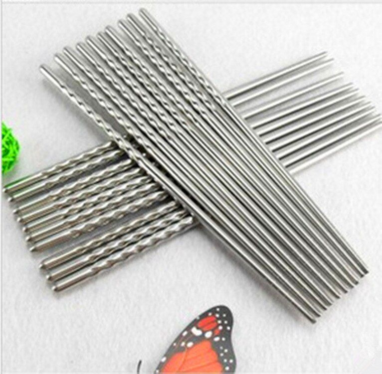 3689 Lo mosquito wholesale Korean stainless steel chopsticks cutlery sets of odd and even environmental health chopsticks 16g