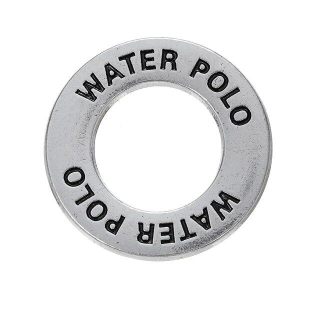 my shape 10pcs water polo ball sports charm double sided