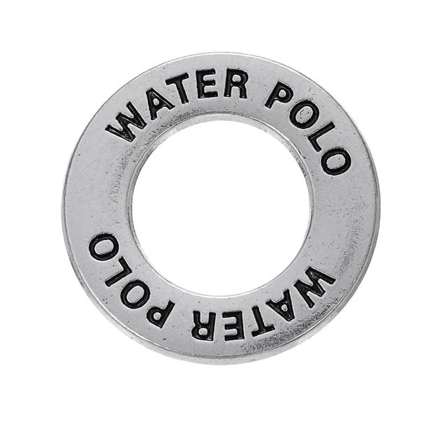 my shape 20pcs water polo ball sports charm double sided