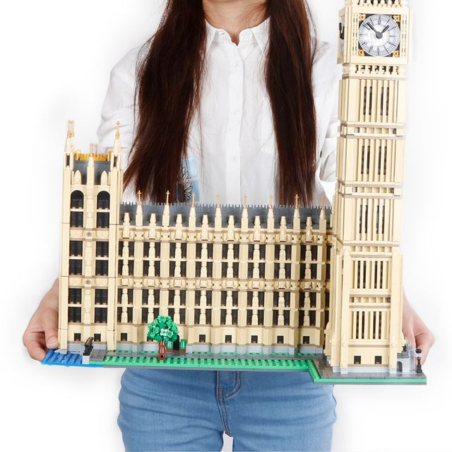 LEPIN Building Bricks 17005 4163Pcs Big clock tower Ben Model Building Blocks set Westminster Palace classic Architecture Toys