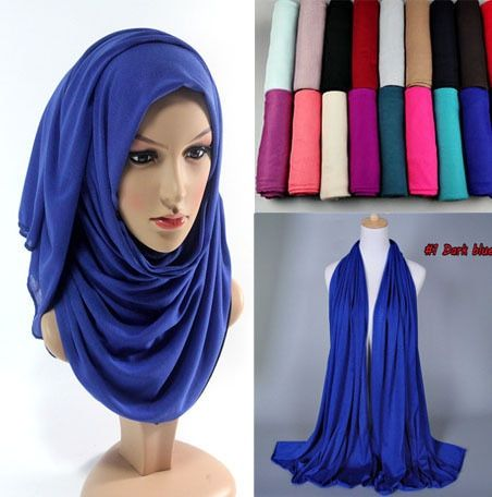 30 color Free shipping Hot Adult Cotton Muslim Hijab The New Turban Jersey Baotou Wholesale Scarf Monochrome Widening High-grade