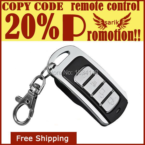 Good quality 433.92mhz RF wireless metal shell clone remote control for garage door