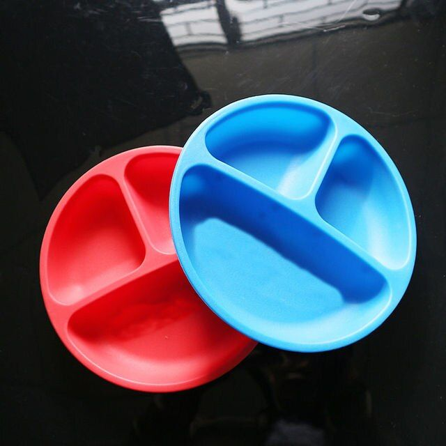 Children's Tableware Baby Food Container Soft Children's Plates Silicone Kids Table Ware Baby Eating Bowl