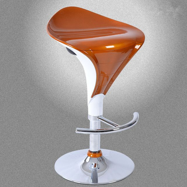 Rich Color Modern Iron Swivel Bar Stool