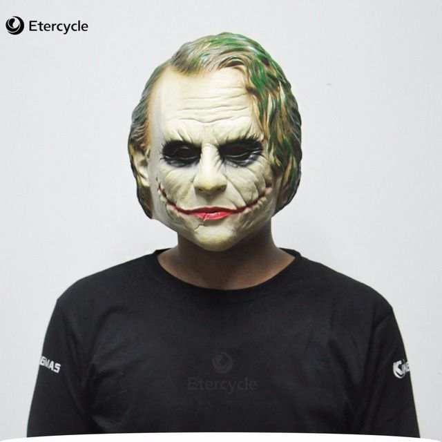 Joker Mask Batman Clown Costume Cosplay Movie Adult Party Masquerade Rubber Latex Masks for Halloween