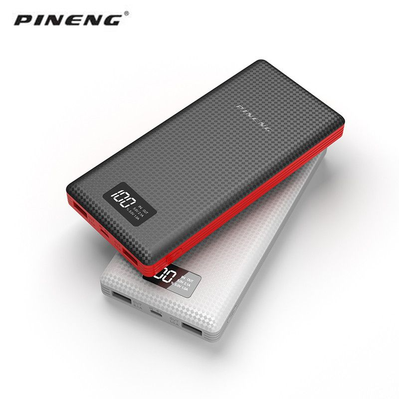 Pineng Power Bank 20000mAh LED External Battery Portable Mobile Fast Charger Dual USB Powerbank 20000mah for iPhone Samsung